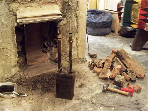 Cost To Remove Fireplace And Chimney by Axforddiy Rebuilding The Fireplace