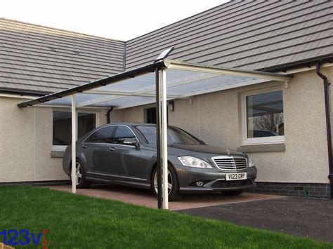 car port awning lean to on roof only pole barn