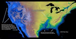 map of us after sea level rise possible sea level rises