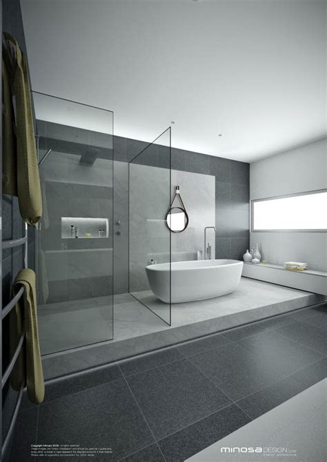 Bathroom Modern Design Best 20 Grey Modern Bathrooms Ideas On