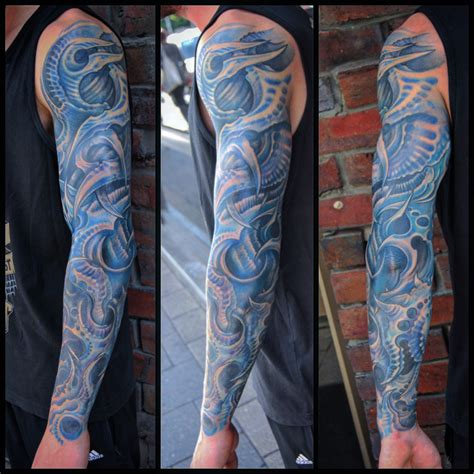 biomechanical tattoo leg sleeve freehand biomechanical sleeve by kris barnas biomech