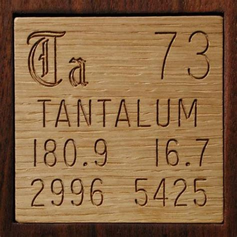 sle of the element tantalum in the periodic table