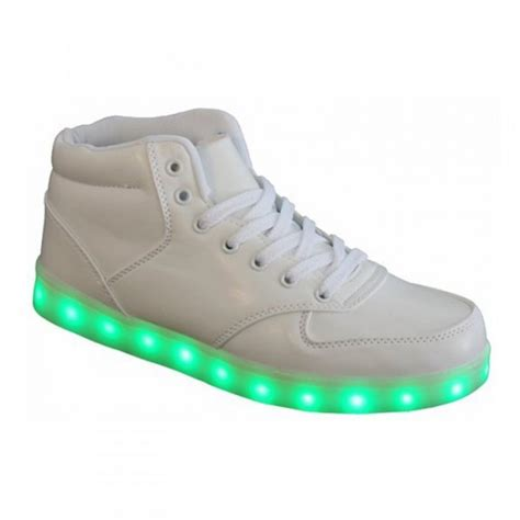 chaussure qui s allume montante blanche homme basket led fr