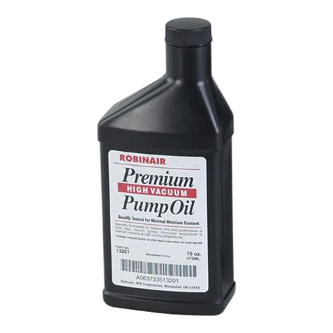 vacuum oil pump premium high vacuum pump oil robinair mfg corp 13119