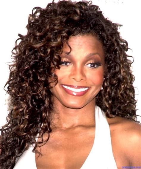 spiral curls toward the face period janet jackson hairstyles 37 most appreciated hairdos