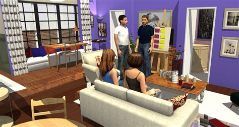 Apartment Friends Friends Tv Show Apartment In 3d Homebyme