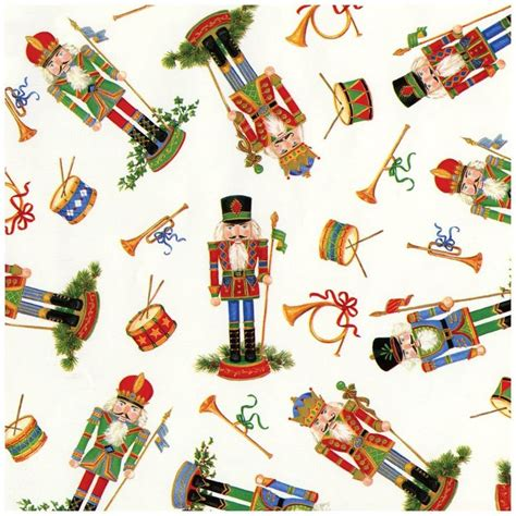 caspari holiday gift wrapping paper roll nutcrackers