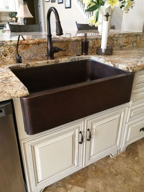 Bronze Sinks Kitchen Hammered Copper Farm Sink Moen Rubbed Bronze Touch