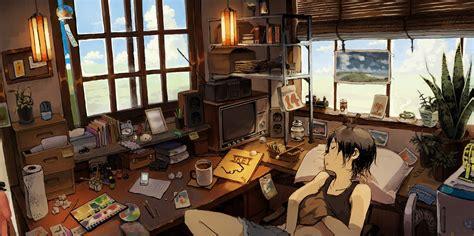 wallpaper anime room hd wallpaper boy sleeping 1858