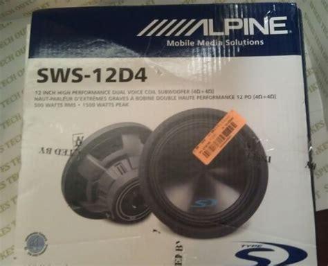 alpine type  sws     watt subwoofer