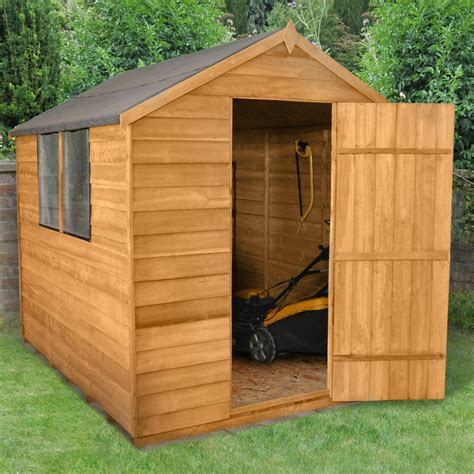 wooden garden shed apex roof felt windows