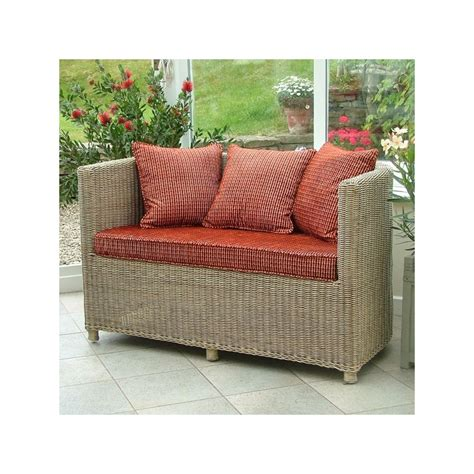 small wicker conservatory sofa small rattan sofa conservatory furniture holloways