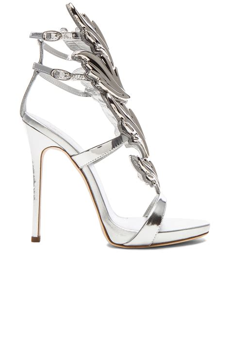 wing high heels giuseppe zanotti x kayne west wing patent leather heels in