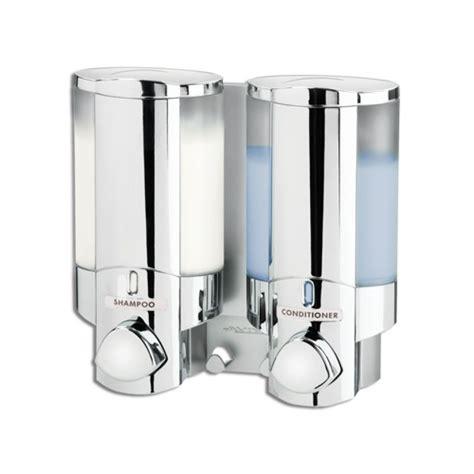 double soap sanitizer liquid dispenser lotion pump wall
