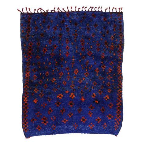cobalt blue rug mid century modern berber moroccan rug in cobalt blue for sale at 1stdibs