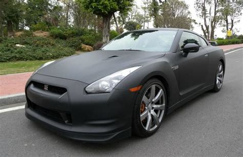 nissan gtr matte black gold rims nissan gt r is a matte black stealth fighter in china