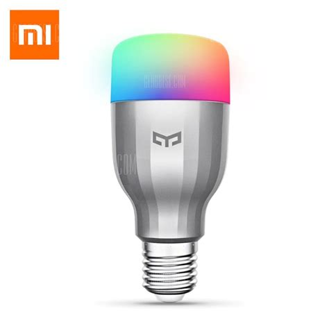 Led Light Bulb Coupons 11 With Coupon For Xiaomi Yeelight Ac220v Rgbw E27 Smart Led Bulb Silver From Gearbest