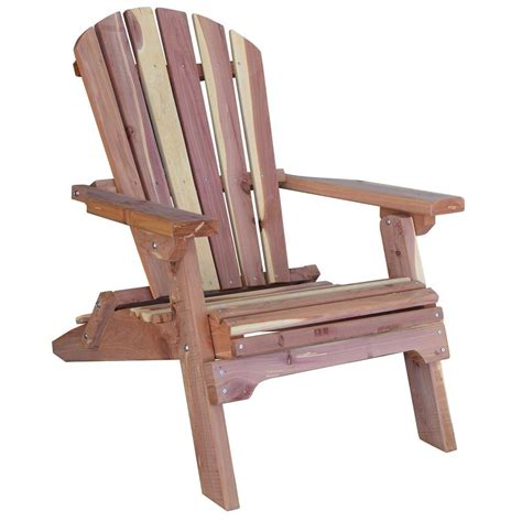 adirondack bench amerihome cedar patio adirondack chair 800890 the home depot
