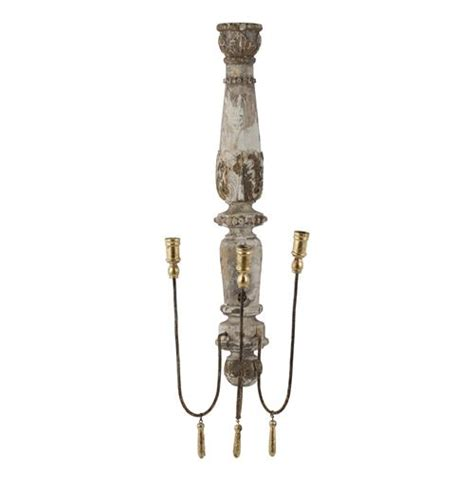 country style candle wall sconces pair country chateau pinot 3 taper candle wall sconce