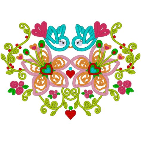 A15 Flowers flower power a15 style applique 6x10 picture to pin