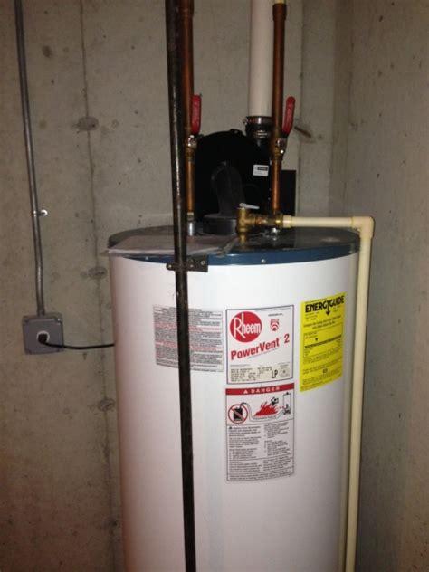 rheem 50 gallon gas water heater power vent power vent gas water heater doesnt heat plumbing diy home