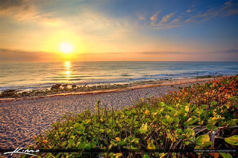 East Coast Beach Sunrise Carlin Park Jupiter Florida