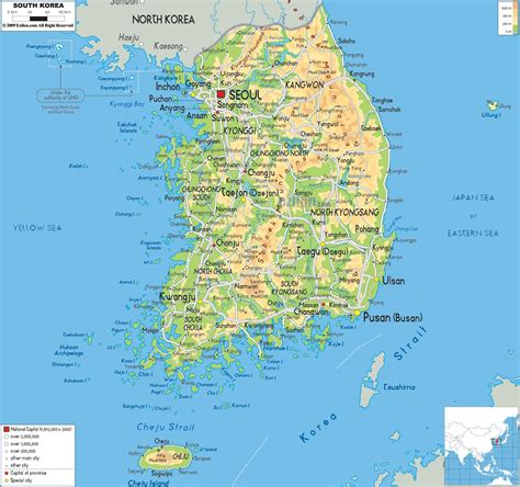 Piring Pajangan Dari Korea Selatan korea peta peta dari korea selatan asia timur asia