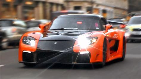 Mazda RX 7 Veilside Fortune in LondonAcceleration Videos