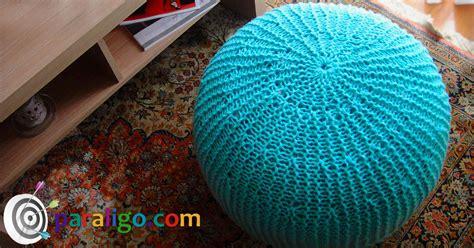 How To Make A Knitted Pouf Ottoman Pouf Ottoman Knitting Tutorial Paraligo