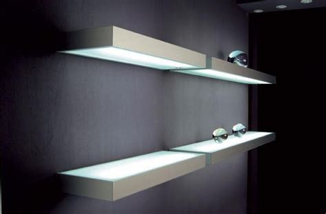 floating shelves with lights led floating glass shelves led cabinet light supplier