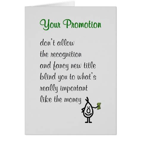 Wedding Congratulation Poems by Your Promotion A Congratulations Poem Card Zazzle