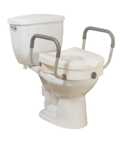 Stool Riser by Locking Riser Toilet Seat With Arms Colonialmedical