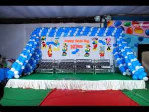 Simple Indian Home Decorating Ideas birthday party stage decorations banjarahills youtube