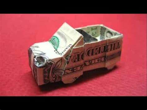Dollar Bill Origami Car - origami car