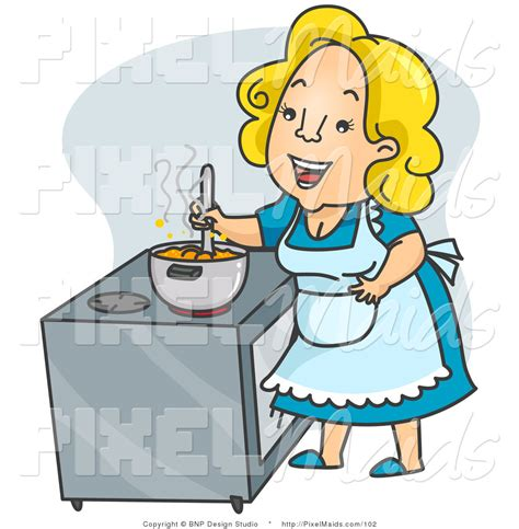 Home Kitchen Aid by Clipart Of A Happy Mother Cook Or Housewife Stirring