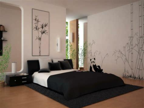 deco chambre lit noir lit au sol minimalisme confort et luxe