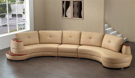 8090 sectional sofa in honey bonded leather by american eagle