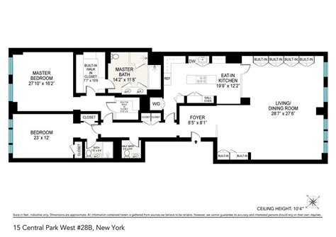 15 cpw floor plans 15 central park west upper west side manhattan scout
