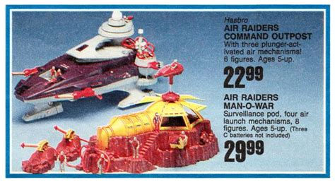 air toys air raiders command outpost and o war at toysrus in 1987