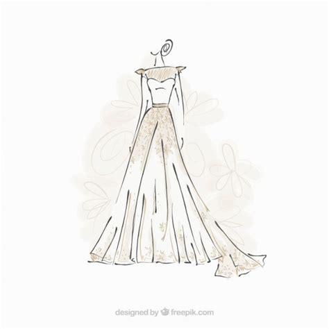 sketch free dress sketch vector free
