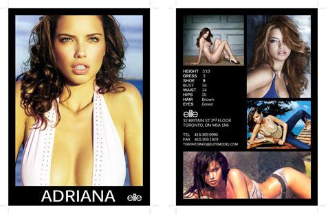 Hit And Miss Fashion Model Comp Card Model Comp Card Template