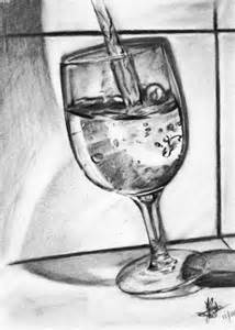 glass of water sketch by rayjaurigue on deviantart