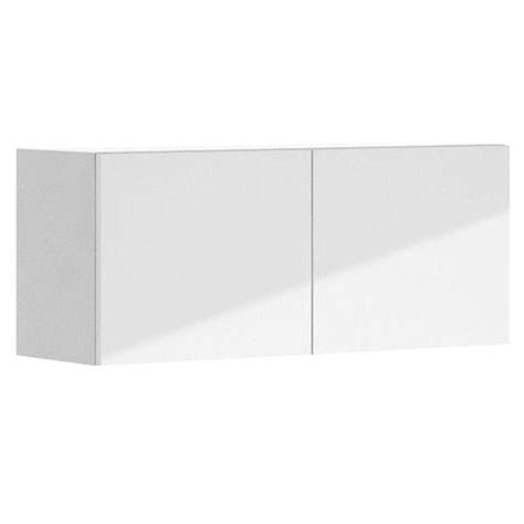 white melamine cabinet doors eurostyle 36x15x12 5 in valencia wall bridge cabinet in white melamine and door in white w3615
