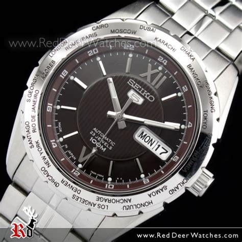 Seiko Snzg59 buy seiko 5 automatic world time snzg59 snzg59j1