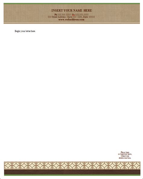 template for business letterhead doc 770477 doc770477 microsoft word letterhead template