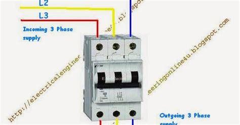 three pole breaker wiring diagram wiring diagram with