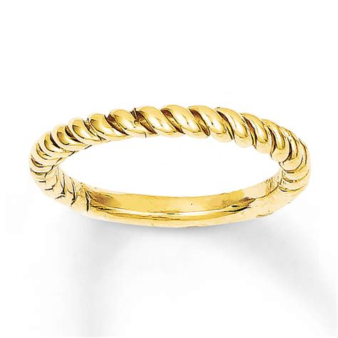 twisted ring 14k yellow gold