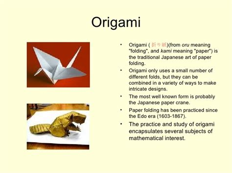 Meaning Of Origami - nakia s powerpoint