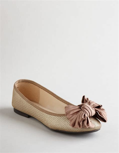 enzo shoes flats enzo angiolini capaz bow ballet flats in brown gold