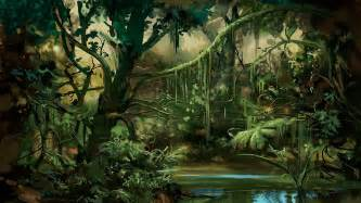 Wall Mural Ocean prehistoric jungle wallpaper wallpapersafari